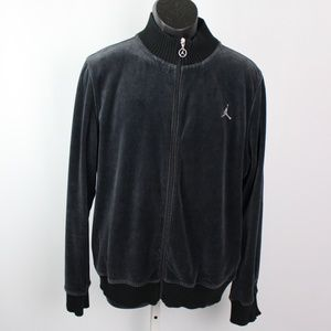 Nike Jumpman Air Jordan black Velour Track Jacket
